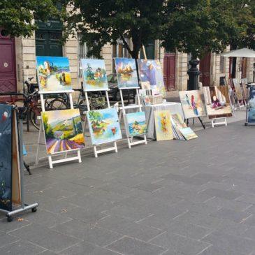 Exposition de peinture le 4 septembre 016 cours du Chapeau rouge à Bordeaux