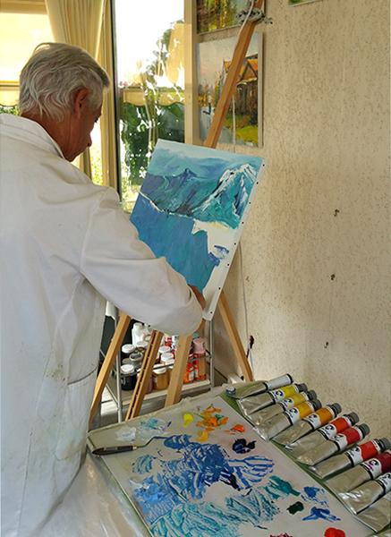 Le paysage : Stage de perfectionnement à la peinture à l'huile au couteau du 24 au 26 octobre 016