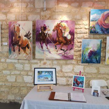 Invitée d'honneur du 17 au 18 mars 2018 à l'exposition de peintures à Macau en Gironde