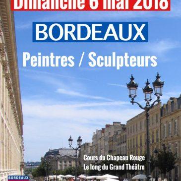 Exposition de peinture de mai à novembre 018 cours du Chapeau rouge à Bordeaux