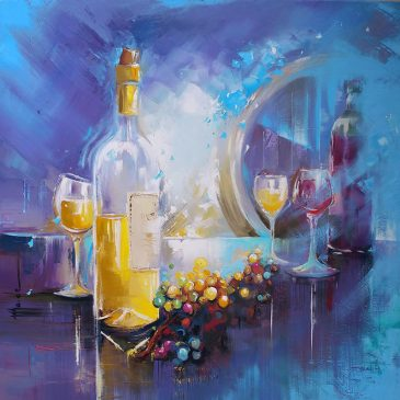 Exposition de peinture du 2 juillet au 31 août 018 dans la boutique de la cave de Sauveterre de Guyenne