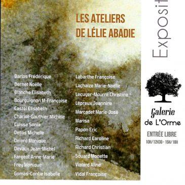 Exposition des ateliers de Lélie Abadie, du 20 au 29 septembre 2019