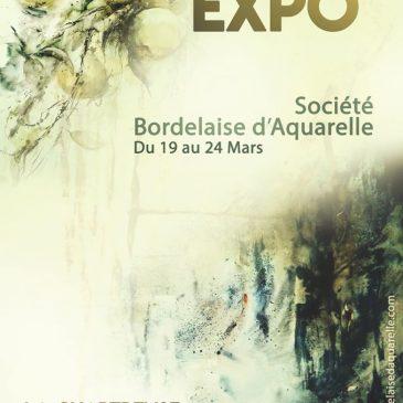 Exposition  de la «Société Bordelaise d'Aquarelle» du 19 au 24 mars 2020, à la Charteuse de Bordeaux-Caudéran