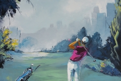 Belle matinée de golf