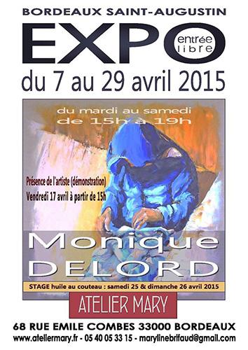 Exposition à l'Atelier MARY Du 7 au 29 Avril 2015, exposition à l'Atelier MARY, 68 rue Emile Combes à Bordeaux Saint-Augustin(33000).