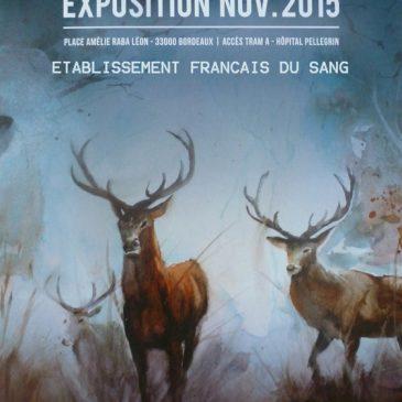 Exposition de peinture aquarelles et huiles    en novembre 2015, à l'Etablissement français du sang de Bordeaux (EFS)