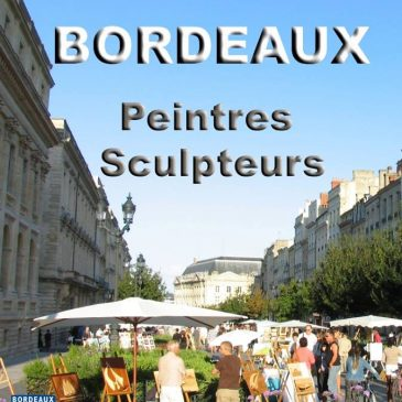 Exposition de peinture le 5 juin 016 cours du Chapeau rouge à Bordeaux