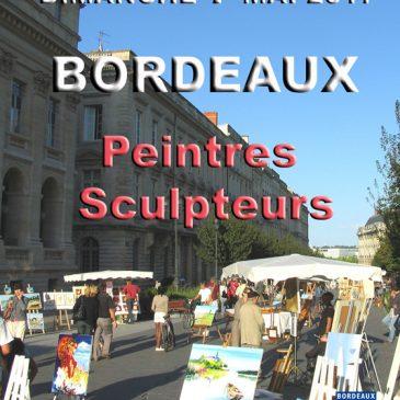 Exposition de peinture le 7 mai 017 cours du Chapeau rouge à Bordeaux