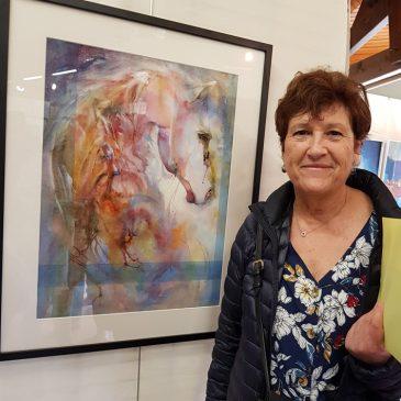 1er prix aquarelle au 40e Salon de peinture et sculptures de Tresses